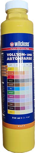 Qualitäts Abtoenfarbe - Volltonfarbe / 750 ml/matt - 14 Farben zur Auswahl (Bast)