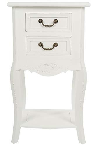 LaNatura Telefontisch Elegance MDF Weiß