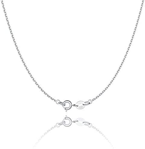 Jewlpire 925 Sterling Silver Chain Necklace Chain for Women Girls 1 1mm Cable Chain Necklace product image