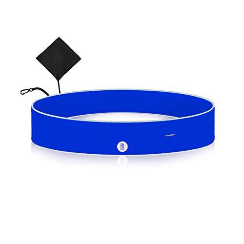 FitFeelsFun® Schmaler Laufgürtel mit Reißverschlusstasche - für Handy Geld Schlüssel - Bauchtasche Handyhalter-ung zum Joggen Laufen Sport