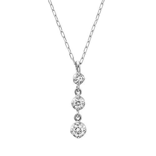 4℃(ヨンドシー) ダイヤモンド K18 ホワイトゴールド(WG)ネックレス 111231123205