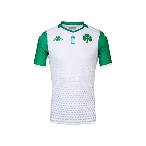 Kappa Kombat Away Panathinaikos Spielshirt Unisex Erwachsene XXL Weiß/Grün