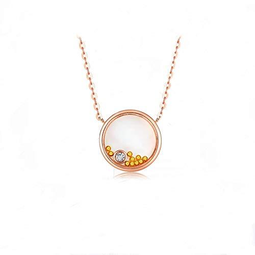 Blisfille Gargantilla Oro Mujer 18K Colgante Corazon Morado Colgante Oro Inicial Collares Mujer Joven Baratos Collares de Mujer de Oro Collar Colgante Oso