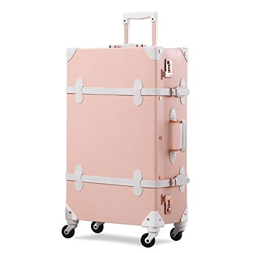Purchase GSAGJlgx Travel Luggage Trunk Vintage Women Suitcase with TSA Lock (Size : 20 inch)