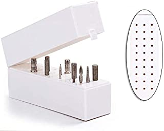 Lumcrissy Nail Drill Bits Holder 30 Holes Stand Displayer Organizer Nail Art Manicure Box