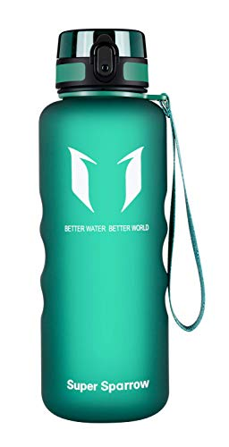 Super Sparrow Trinkflasche - 1.5L - Wasserflasche Auslaufsicher -Sportflasche BPA-Frei | Schule, Sport, Wasser, Fahrrad