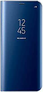 Samsung Ef-Zg955Clegca View Stand Case For Galaxy S8 Plus, Blue/Clear