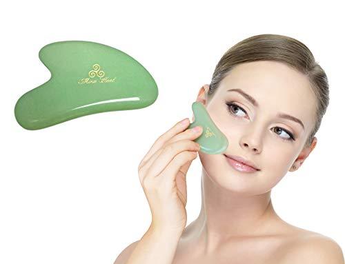 Preisvergleich Produktbild Jade Stone Massage Tool,  2 Point Design,  for Anti-wrinkles,  Anti-aging Gua Sha Massage,  Skin Detox and Rejuvenation & Beauty