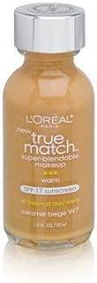 L'Oreal Paris Makeup True Match Super-Blendable Liquid Foundation, Caramel Beige W7, 1 Fl Oz,1 Count