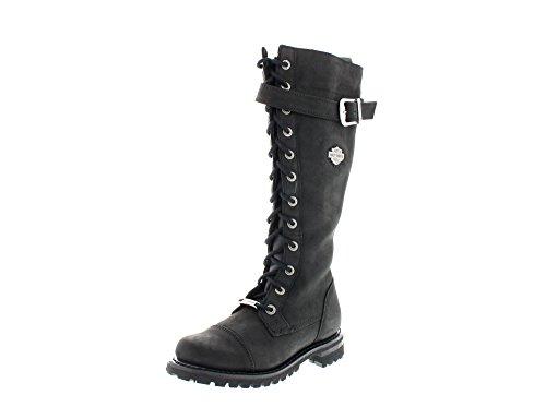 HARLEY-DAVIDSON Damen Biker Boots, Schwarz(Black), 37 EU