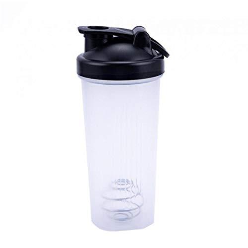 Shaker Cup Plastic Sports Water Bottle Portable Leak-Proof Blender Multifunctional Shake Cup Black
