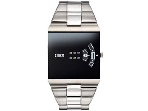 STORM London New Remi SQ Black, Herrenuhr, Edelstahlgehäuse, Mineralglas, rotierende Scheiben als Uhrzeiger, 3 bar Wasserdicht, 47430/BK