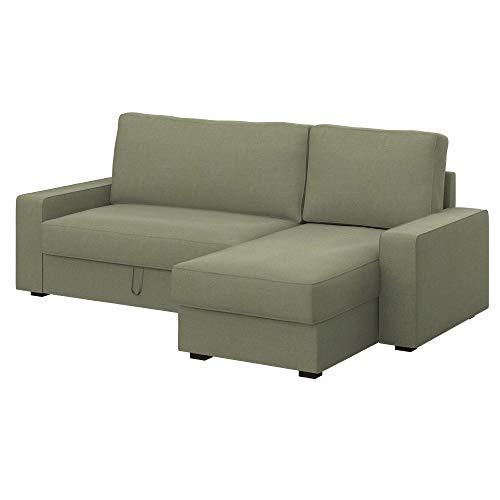 Soferia Funda de Repuesto para IKEA VILASUND Funda sofá Cama con chaiselongue, Tela Elegance Taupe, Beige