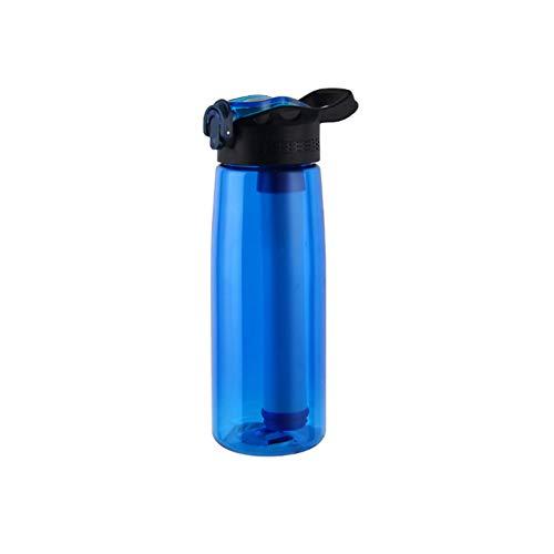 APXZC Gefilterde waterfles, geïntegreerd filter voor camping, ultralicht dragen, milieuvriendelijk kunststof, veilig comfortabel, voor uitstapjes met eigen voertuig