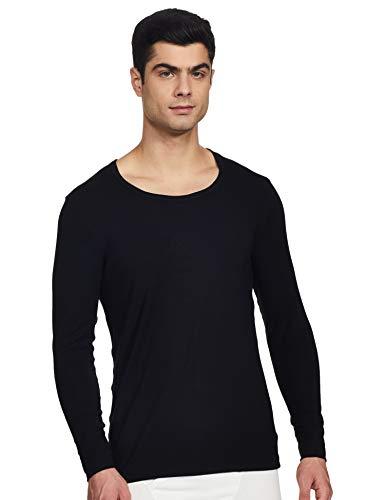 Jockey Men's Plain Thermal Top (2604_Black_Large)