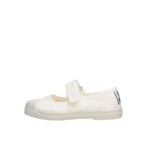 Natural World 478 Schuh mit Klettverschluss, Weiß - Bianco - Größe: 22 EU