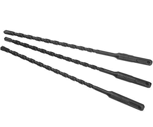 Steinbohrer SDS Plus Wolframkarbid-Spitzen zum Bohren von Beton, Granit, Fliesen, Kunststoff, Holz, 6 mm Durchmesser, 210 mm Länge