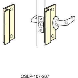 "Don-Jo OSLP-210 12 Gauge Steel Short Type Latch Protector, Silver Coated, 2-5/8"" Width x 10"" Height, for Outswinging Doors (Pack of 10)"