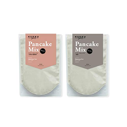 KUKKU パンケーキミックス スイート&プレーン(無糖) 各200g こだわり素材 究極のシンプルパンケーキ ホットケーキ 手作り おうち時間