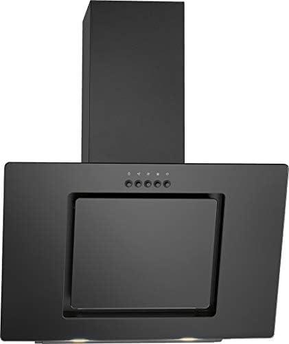 Bomann DU 7602 G - Campana extractora vertical sin cabeza, 60 cm de ancho, 3 niveles de potencia, iluminación LED, color negro