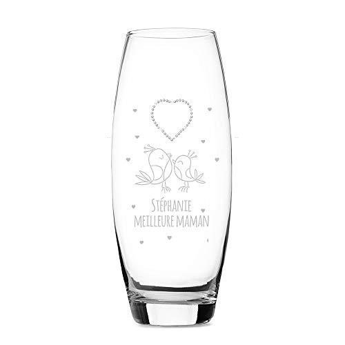 CADEAUX.COM Vase Ovale Amour Coeur Cristaux Swarovski...