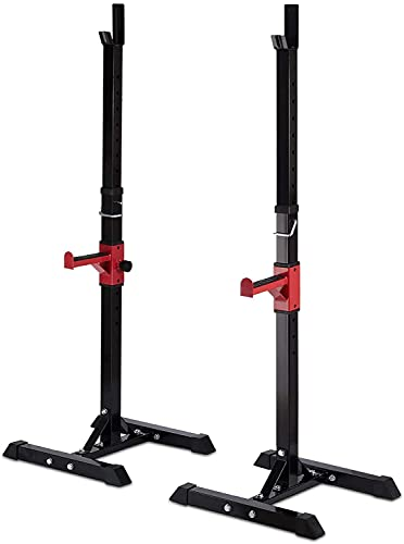 N/Z Home Equipment Squat Rack 450LBS Max Load Barbell Squat Rack Stands 40' 66' Adjustable Bench Press Stands Dip Stand Full Body Multi Function Workout Fitness