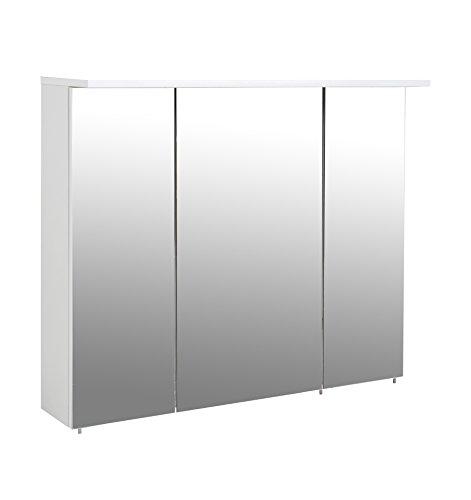 Schildmeyer Spiegelschrank, Melaminharzbeschichtete Spanplatte, weiß, 90 x 16 x 72.3 cm
