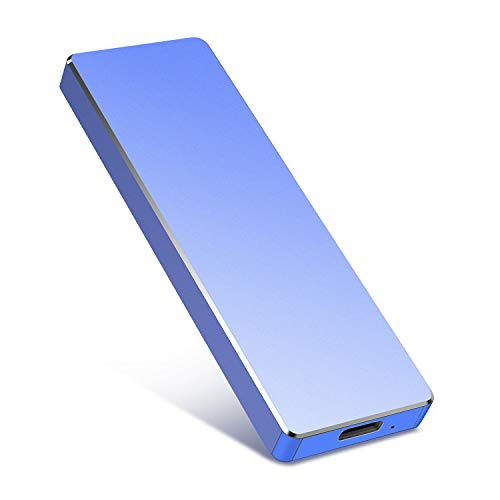 Portable Hard Drive 2TB, External Hard Drive Portable HDD for Mac, PC, Laptop-Blue