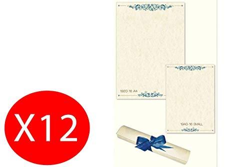 Carta Pergamena La Tuscania Decorata Avorio A4 210x297 160g/mq Confezione da 12 Fogli