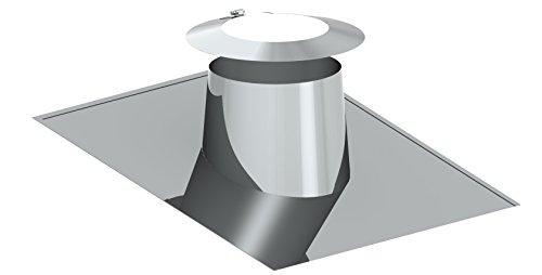 Dachdurchführung 5°- 15° mit Wetterkragen für doppelwandige Schornsteine DW; passend für Rohre mit Ø 210mm Außendurchmesser