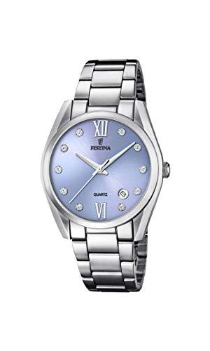 Festina Damen Analog Quarz Uhr mit Edelstahl Armband F16790/B
