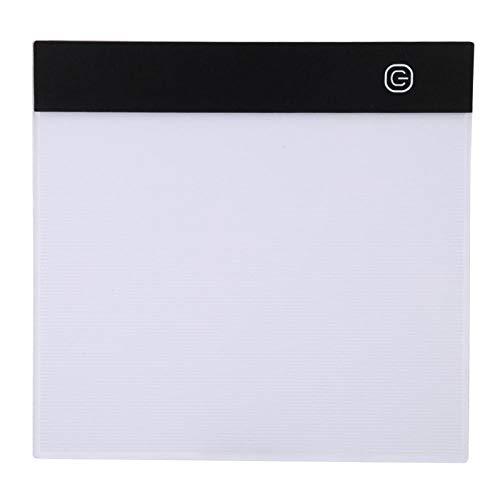 Caja de luz de seguimiento LED, mesa de almohadilla de copia de dibujo artístico A5 + cable USB portátil como lámpara o álbum de fotos, para caligrafía, pintura, copia
