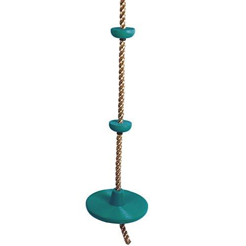 Yamyannie Columpio para Niños Los niños con Plataforma Cuerda de Escalada Cuerda de Escalada al Aire Libre Columpio El Columpio Cubierta Solo Golpe para Jardín (Color : Verde, Size : 30x200cm)