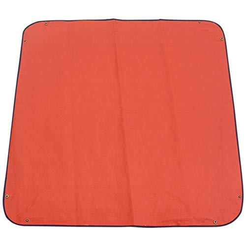 Tegent 1 x 1 Meter Gartenblumentopfpflanze Ersatzmatte Land Matte faltbar Wieder verwendbaren Mischboden wasserdicht Gartenmatte verdickt (Color : Blue Orange)