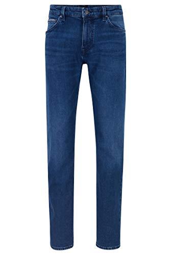 BOSS Herren Maine3+ Blaue Regular-Fit Jeans aus komfortablem Stretch-Denim