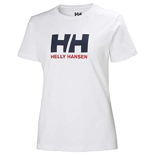 Helly Hansen HH Logo Camiseta Manga Corto, Mujer, Blanco, S