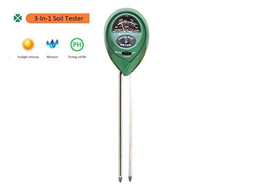 Cratone Bodentester Feuchtigkeitsmesser Pflanzen-Bodentester PH Säure- und Licht-Tester Feuchtigkeitsmesser für drinnen und draußen