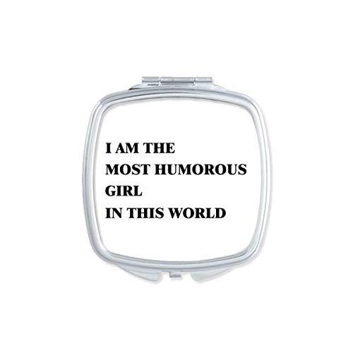 DIYthinker Je suis Le Maquillage Compact Fille Pleine d'humour Miroir carré Portable Mignon de Cadeau Miroirs de Poche à la Main Multicolor