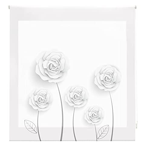 Blindecor Estor Enrollable Digital translúcido Estampado, Garden, 170x180 cm ( Ancho x Alto)
