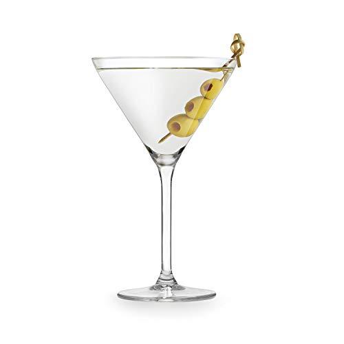 Martini Glazen, set van 4 stuks, 260 ml, helder glas, 18 x Ø 10,5 cm, cocktailkelch, Martinischale, cocktailpunt, Martini glas, hoogwaardig en stabiel, Royal Leerdam, set van 4