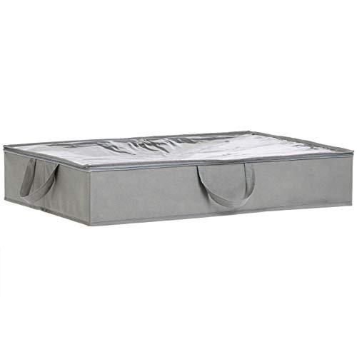 AmazonBasics – Bolsa de tela de almacenamiento bajo la cama, 2 unidades