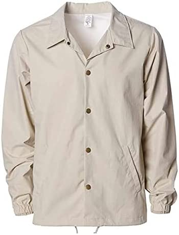Independent Trading Co. Mens Water Resistant Windbreaker Coaches Jacket (EXP99CNB)