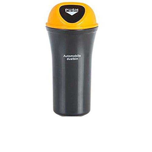 QIYUEQI plastique ABS 9 5*7*20cm Yellow respectueuse de l'environnement et facile à nettoyer un sac poubelle de voiture