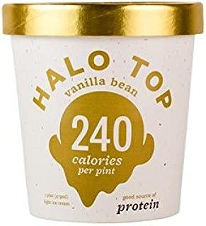 Halo Top Vanilla Bean Ice Cream,, 16 Ounce (Pack of 8)