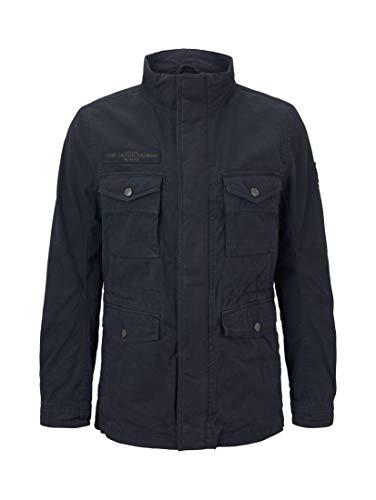 TOM TAILOR Herren Jacken Jacke mit hohem Kragen Sky Captain Blue,S,10668,6000