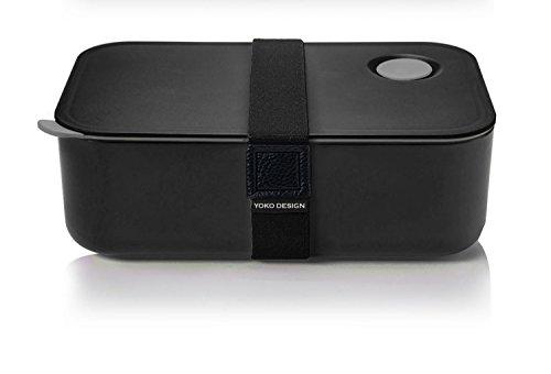 Yoko Design 1386 LUNCH BOX HERMETIQUE 1 l, Plastique, Noir, :19.5 x 6.8 x 12.2 cm