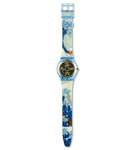 Reloj SWATCH año 1992gn138al Cuarzo (batería) plástico quandrante Oro Amarillo Correa Plástico