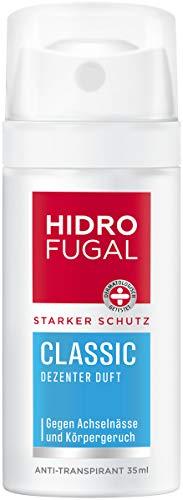 Hidrofugal Classic Spray Mini (35 ml), fuerte protección antitranspirante con aroma discreto, pequeño desodorante en spray para una protección fiable sin alcohol etílico