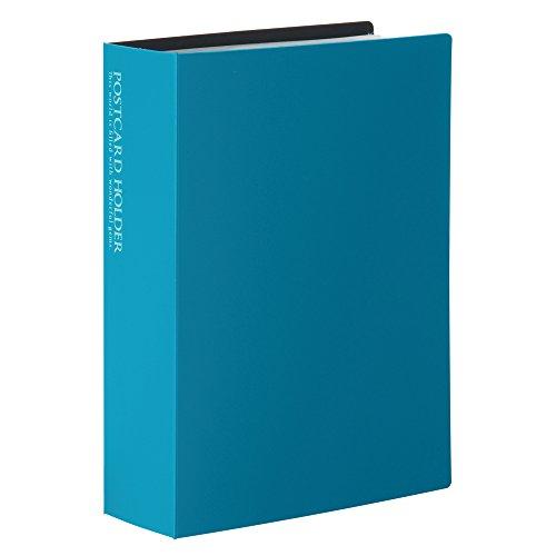 SEKISEI アルバム ポケット ポストカードホルダー 高透明 ハガキサイズ120枚 ハガキ 101~150枚 ブルー KP-60PKP-60P-10