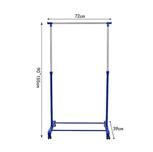 Tendedero de secado de ropa, estantes de secado de barra individuales dormitorio colgando de bastidores prácticos bastidores de secado ( Color : Azul )